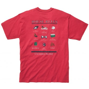 House Rules Tee - Red